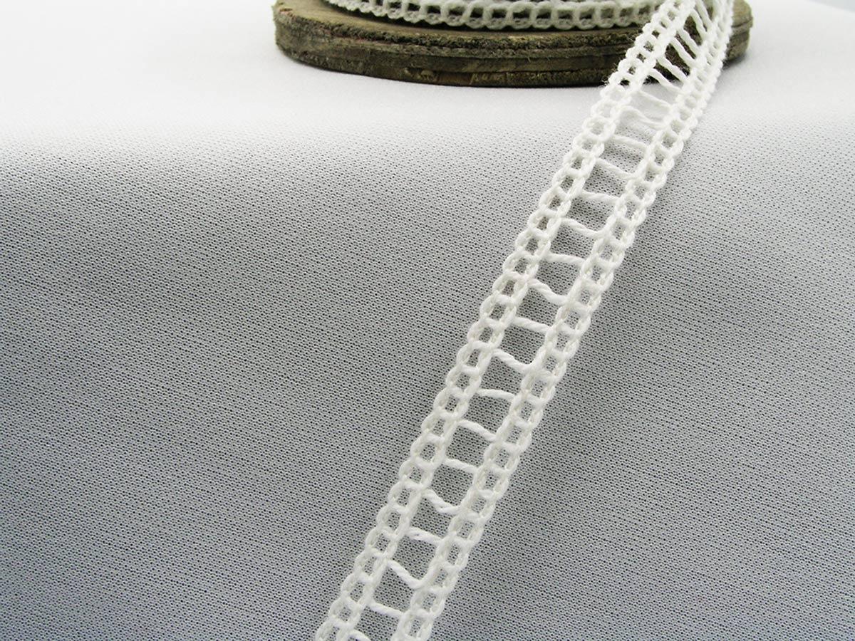Nastro in cotone bianco